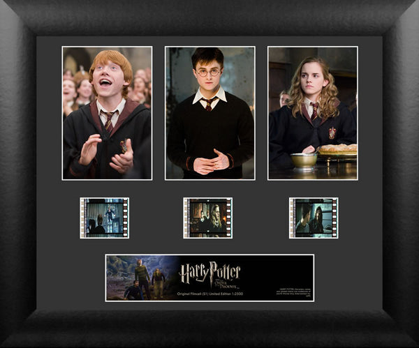 Harry Potter Order of Phoenix S1 Three Cell Std 13 X 11 Film Cell Numbered Limited Edition COA