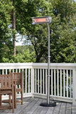 Fire Sense Stainless Steel Telescoping Offset Pole Mounted Infrared Patio Heater