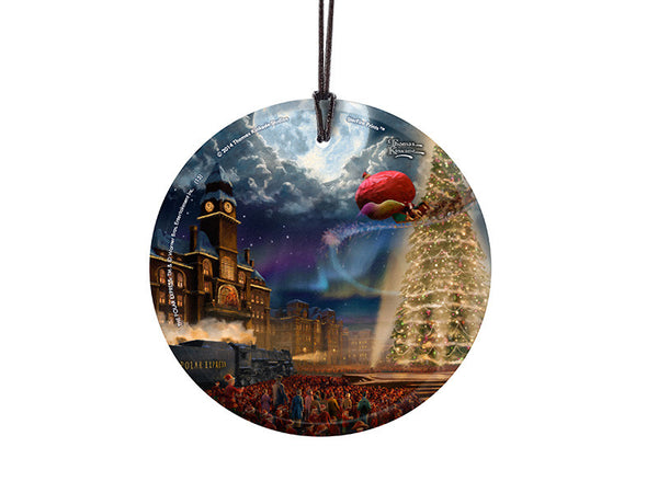 Thomas Kinkade Studios (The Polar Express™) StarFire Prints™ Hanging Glass