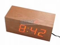 WoodenTime - Natural Wood Digital Clock