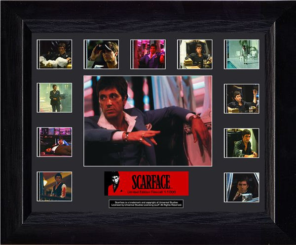 Scarface Mini Montage 13 X 11 Film Cell Limited Edition COA