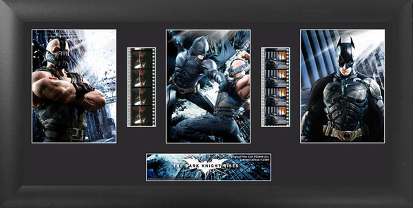 Batman Dark Knight Rises Batman vs Bane Trio Film Cell Numbered Limited Edition COA