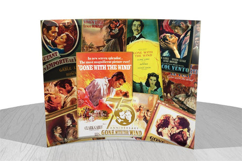 Gone With The Wind™ 75th Anniversary (Poster Collage) StarFire Prints™ Curved Glass