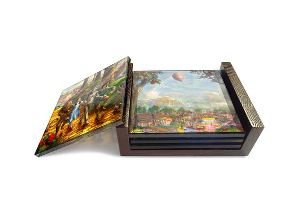 Thomas Kinkade Studios (The Wizard of Oz™ - Follow the Yellow Brick Road™) StarFire Prints™ Glass Coasters