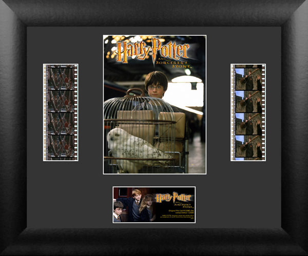 Harry Potter Sorcerers Stone S4 Double 13 X 11 FIlm Cell Numbered Limited Edition COA