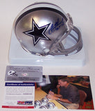 Troy Aikman Autographed Hand Signed Cowboys Mini Helmet - PSA/DNA