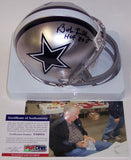 Bob Lilly Autographed Hand Signed Cowboys Mini Helmet - PSA/DNA