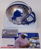 Barry Sanders Autographed Hand Signed Lions Throwback Mini Helmet - PSA/DNA