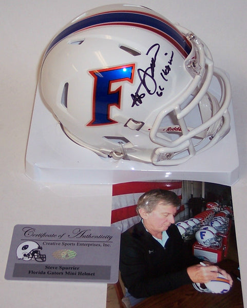 Steve Spurrier Autographed Hand Signed Florida Gators Speed Mini Helmet - PSA/DNA