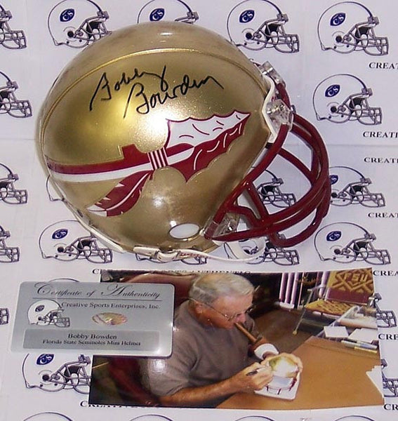 Bobby Bowden Autographed Hand Signed Florida State Seminoles Mini Helmet