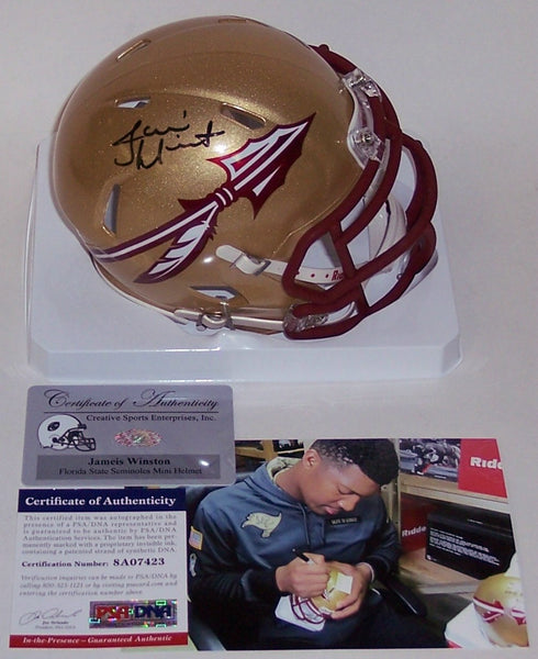 Jameis Winston Autographed Hand Signed Florida State Seminoles Speed Mini Helmet - PSA/DNA