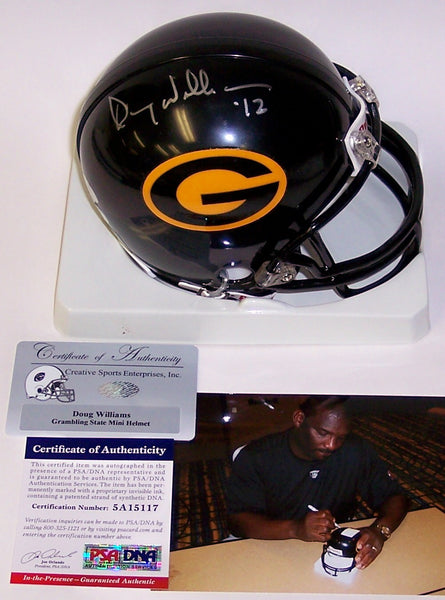 Doug Williams Autographed Hand Signed Grambling State Tigers Mini Helmet - PSA/DNA