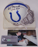 Earl Morrall Autographed Hand Signed Baltimore Colts Mini Authentic Helmet - PSA/DNA