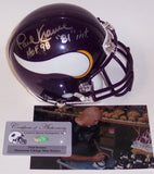 Paul Krause Autographed Hand Signed Vikings Mini Helmet - PSA/DNA