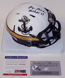 Roger Staubach Autographed Hand Signed Navy Special Speed Mini Helmet - PSA/DNA