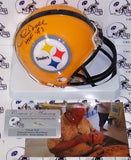Chuck Noll Autographed Hand Signed Steelers Yellow mini helmet - PSA/DNA