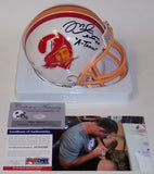 Mike Alstott Autographed Hand Signed Bucs Mini Helmet - PSA/DNA