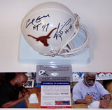 Earl Campbell & Ricky Williams Autographed Hand Signed Texas Longhorns Mini Helmet - PSA/DNA