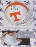 Peyton Manning Hand Signed Tennessee Volunteers Mini Helmet - PSA/DNA