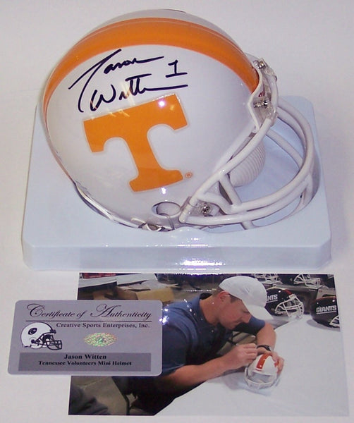 Jason Witten Autographed Hand Signed Tennessee Volunteers Mini Helmet - PSA/DNA