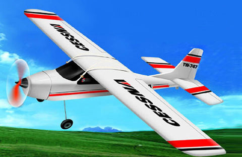 "38"" Wingspan Hobby 4CH RC Cessna 747 Plane"