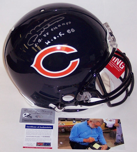 Mike Ditka Autographed Hand Chicago Bears Full Size Authentic Helmet - PSA/DNA
