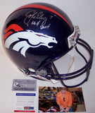 John Elway Autographed Hand Signed Denver Broncos Authentic Full Size Helmet - PSA/DNA