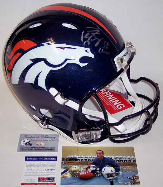 Peyton Manning Autographed Hand Signed Denver Broncos Full Size Revolution Authentic Helmet - PSA/DNA