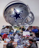 Troy Aikman, Emmitt Smith, Tony Dorsett, Michael Irvin, Bob Lilly, Randy White, Mel Renfro & Deion Sanders Autographed Hand Signed Dallas Cowboys Authentic Proline Helmet - PSA/DNA