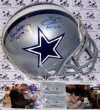 Emmitt Smith & Tony Dorsett Hand Signed Dallas Cowboys Authentic Helmet - PSA/DNA