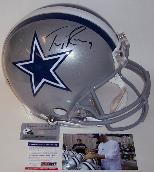 Tony Romo Autographed Hand Signed Dallas Cowboys Full Size Authentic Football Helmet - PSA/DNA