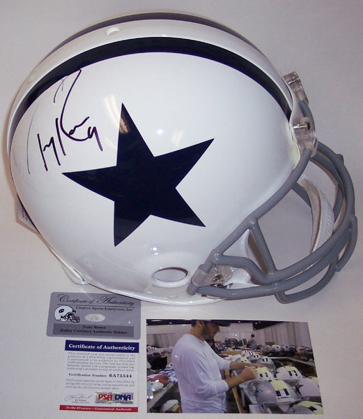 Tony Romo Autographed Hand Signed Dallas Cowboys Authentic Helmet - PSA/DNA