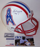 Earl Campbell Autographed Hand Signed Houston Oilers Authentic Helmet - PSA/DNA
