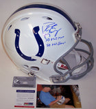 Peyton Manning Autographed Hand Signed Indianapolis Colts Authentic Revolution Helmet - PSA/DNA