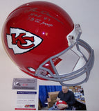 Len Dawson Autographed Hand Signed Kansas City Chiefs Throwback Full Size Authentic Helmet - PSA/DNA