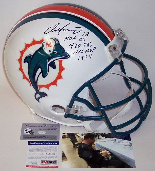 Dan Marino Autographed Hand Signed Miami Dolphins Full Size Authentic Helmet - PSA/DNA