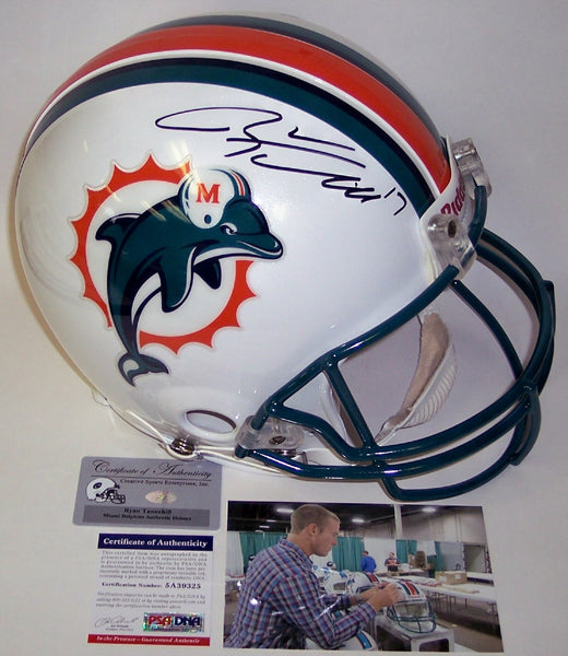 Ryan Tannehill Autographed Hand Signed Miami Dolphins Throwback Authentic Helmet - PSA/DNA