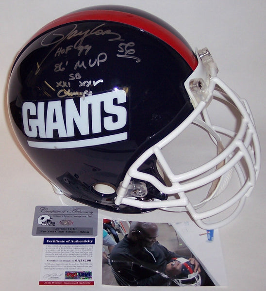 Lawrence Taylor Autographed Hand Signed New York Giants Authentic Helmet - PSA/DNA