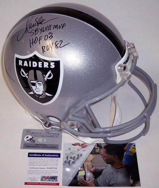 Marcus Allen Autographed Hand Signed Los Angeles Raiders Authentic Helmet - PSA/DNA