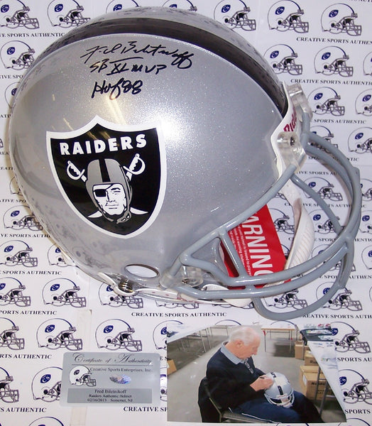 Fred Biletnikoff Hand Signed Los Angeles Raiders Authentic Helmet - PSA/DNA