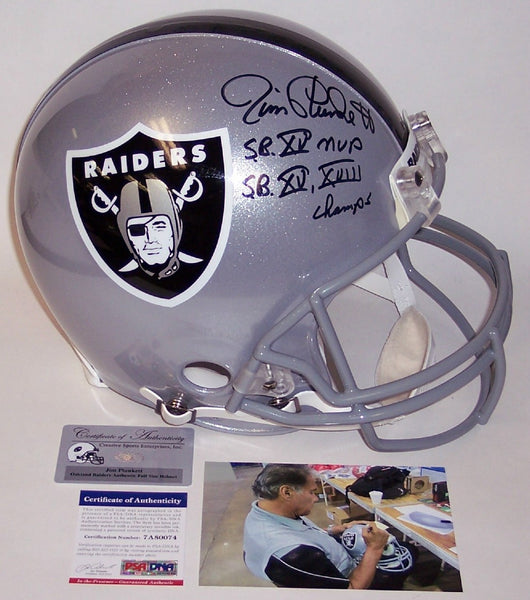 Jim Plunkett Autographed Hand Signed Los Angeles Raiders Full Size Authentic Helmet - PSA/DNA