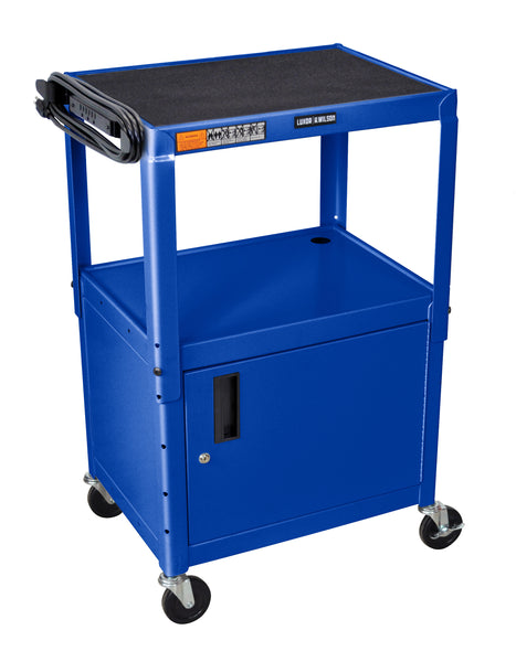 "Luxor Blue 42"" Adj Height Cart w/ Cabinet"