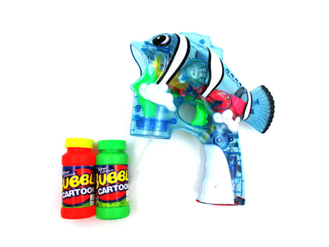 Fish Flash Toy Bubble Shooter (Clear Blue)