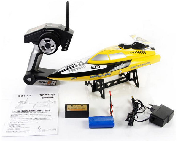 BT912 2.4G Radio Control RC Speed Racing Boat (Yellow)