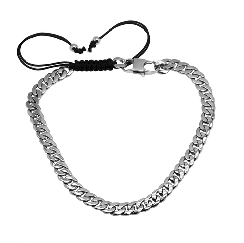 B.Tiff Cuban Link Adjustable Choker Silver, Gold and Black