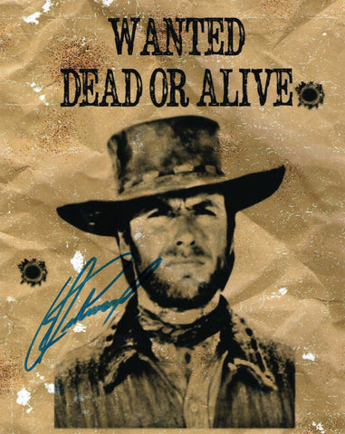 Autographed 8X10 Photo Clint Eastwood Actor Filmmaker Hang em High COA