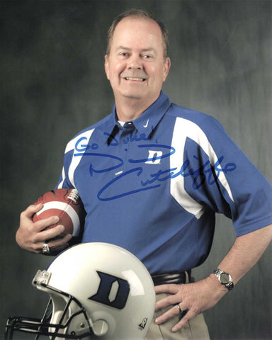 Autographed 8 X 10 Photograph David Cutcliffe Head Coach Duke Football COA