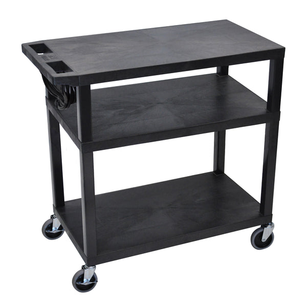 Luxor 3 flat shelves & electric black presentation station