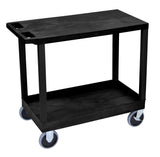 Luxor black ec21hd-b 18x32 cart 1 tub/1 flat shelves