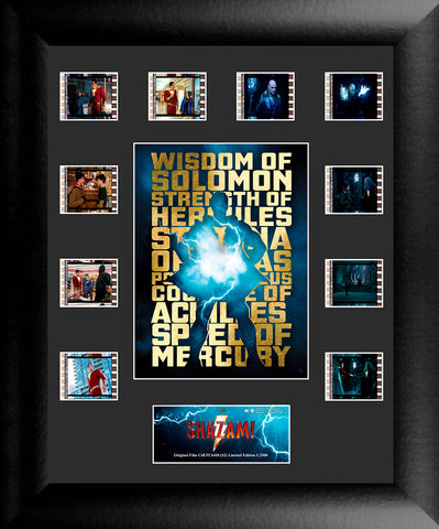 Shazam S2 Mini Montage FilmCell USFC6410 Numbered Limited Edition COA